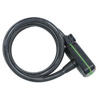 Abus ACH180 Citadel Manhattan Coil Cable & Lock Combo Black Loop