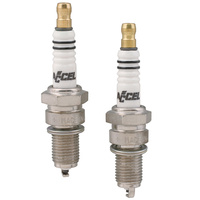 Accel 2410A Spark Plugs U-Groove Big Twin'75-99 w/Electric Ignition (Pair) Gap = .040""