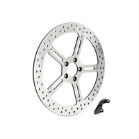 "Arlen Ness 02-965 Left Front 15"" Big Brake Kit Big Twin 00-up (exc S/Tail'15up FXD'06-17 FLH XL)"