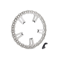 "Arlen Ness 02-991 Left Front 15"" Big Brake Kit ""Wave"" Rotor OEM Cast Wheel FXD'06up"