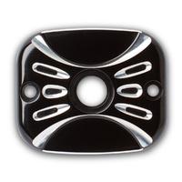 "Arlen Ness 03-453 Rear Master Cylinder Cover ""Deep Cut"" Black BT'06up (ex.FLH'08up)"