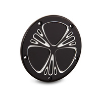 Arlen Ness 03-579 Deep Cut 5 Hole Derby Cover Black for Softail 00-18/Dyna 99-17/Touring 99-15