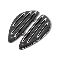 Arlen Ness 06-833 Deep Cut Front FloorBoards Black for FLST 86up/FLHR 94up/FLT 82up