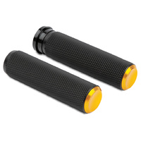 Arlen Ness 07-337 Knurled Fusion Grip Set Gold for H-D Models w/Throttle Cable