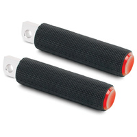 Arlen Ness 07-938 Knurled Fusion Footpegs Red for HD Models (exc. M8 Softail & Some XL Models)