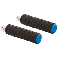 Arlen Ness 07-950 Knurled Fusion Driver Footpegs Blue for Softail 18up