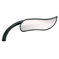 Arlen Ness 13-405 Right Hand Upswept Micro Mirror Black Metric (Each)