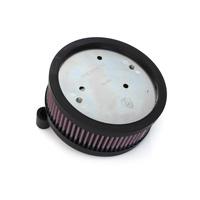 Arlen Ness 18-826 HiFlo Air Filter Black XL'88up EFI & CV (Use's OEM Oval Cover)