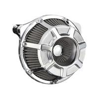Arlen Ness 18-934 Air Filter Beveled Chrome BT'99up (exc FLH'08up w/TBW)
