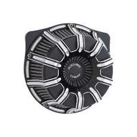 Arlen Ness AN-18-943 10-Gauge Air Cleaner Kit Contrast Cut for Big Twin 99-17 w/CV Carb or Cable Operated Delphi EFI
