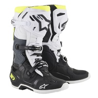 Alpinestars Tech 10 Boots Black/White/Fluro Yellow