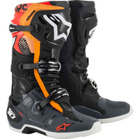 Alpinestars Tech 10 Boots Black/Grey/Orange/Fluro Red