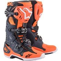 Alpinestars 2021 Tech 10 Boots Cool Grey/Fluro Orange/Black [Size:8]