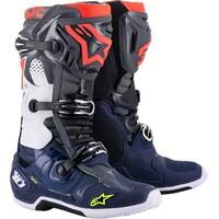 Alpinestars 2021 Tech 10 Boots Dark Grey/Dark Blue/White