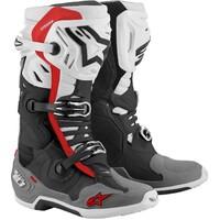Alpinestars Tech 10 Supervented Boots Black/White/Grey/Red