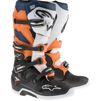 Alpinestars Tech 7 Boots Black/Orange/White/Navy