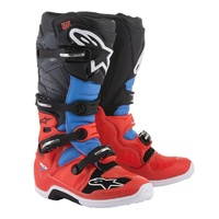 Alpinestars Tech 7 Boots Fluro Red/Cyan/Grey/Black