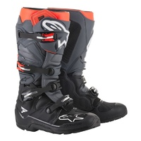 Alpinestars Tech 7 Enduro Boots Black/Dark Grey/Fluro Red