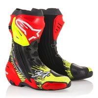 Alpinestars Limited Edition Schwantz Supertech R Boots Black/Red/Fluro Yellow