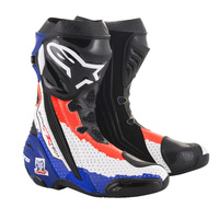 Alpinestars Limited Edition Doohan Supertech R Boots Blue/Fluro Red/White
