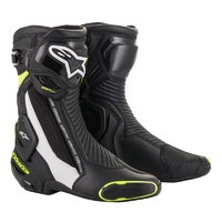 Alpinestars SMX Plus V2 Boots Black/White/Fluro Yellow