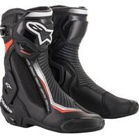 Alpinestars SMX Plus V2 Boots Black/Fluro Red/White