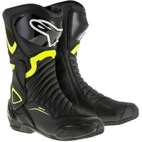 Alpinestars SMX 6 V2 Boots Black/Fluro Yellow