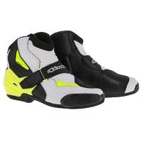 Alpinestars SMX-1 R Vented Boots Black/White/Fluro Yellow