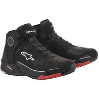 Alpinestars CR-X Drystar Riding Shoes Black/Camo Red