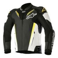Alpinestars Atem V3 Leather Jacket Black/White/Fluro Yellow