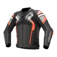Alpinestars Atem V4 Leather Jacket Black/Grey/Fluro Red