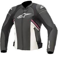 Alpinestars Stella GP Plus R V3 Airflow Leather Jacket Black/White/Fuchia