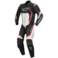 Alpinestars Motegi V2 1 Piece Leather Suit Black/White/Fluro Red