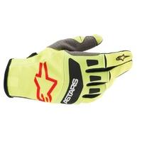 Alpinestars 2021 Techstar Gloves Yellow/Black/Red