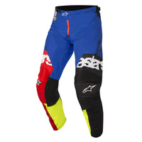 Alpinestars Racer Flagship Pants Red/Fluro Yellow/Blue