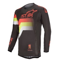 Alpinestars 2020 Techstar Venom Jersey Black/Fluro Red/Fluro Yellow