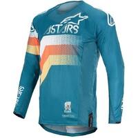 Alpinestars 2020 Techstar Venom Jersey Petrol/White/Fluro Orange