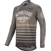 Alpinestars 2020 Racer Tech Flagship Jersey Black/Dark Grey/Orange
