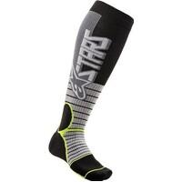 Alpinestars MX Pro Socks Cool Grey/Fluro Yellow