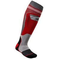 Alpinestars MX Plus 1 Socks Red/Cool Grey