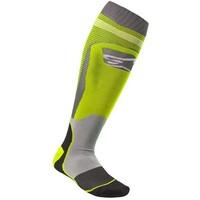 Alpinestars MX Plus 1 Socks Fluro Yellow/Cool Grey