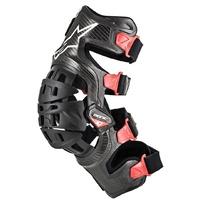 Bionic 10 Carbon Left Knee Brace Black/Red