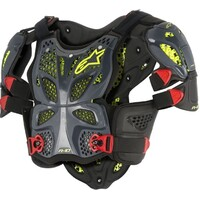 Alpinestars A-10 Chest Armour Black/Red/Yellow