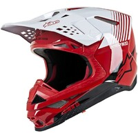 Alpinestars Supertech M10 Dyno Helmet Gloss Red/White
