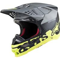 Alpinestars Supertech M8 Radium Helmet Matte Black/Fluro Yellow