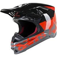 Alpinestars Supertech M8 Radium Helmet Fluro Red/Black/Grey