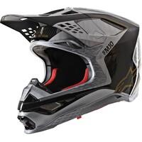 Alpinestars Supertech M10 Alloy Helmet Matte & Gloss Silver/Black/Carbon/Gold
