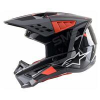 Alpinestars 2021 S-M5 Helmet Rover Anthracite/Fluro Red [Size:SM]