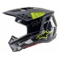 Alpinestars 2021 S-M5 Helmet Rover Anthracite/Fluro Yellow