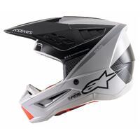 Alpinestars 2021 S-M5 Helmet Rayon Matte Grey/Black [Size:XL]